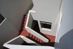 Vão das escadas na parte traseira de uma casa ilustração do vetor