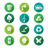 Vão os ícones verdes Imagem de Stock Royalty Free