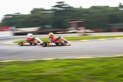 Vão os esportes de competência do kart Foto de Stock