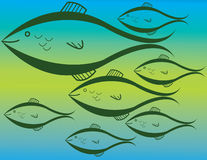Vão os peixes! ilustração do vetor