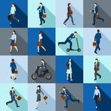 Vão os trabalhadores dos ícones ajustados Imagem de Stock Royalty Free
