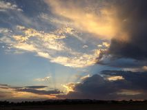 Väckande himmel Royaltyfri Bild