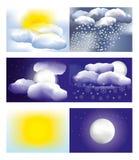 väder stock illustrationer