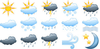 väder Royaltyfria Bilder