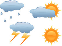 väder vektor illustrationer