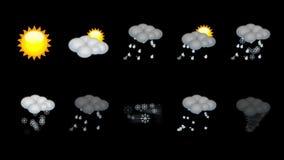 Väder animerad symbolsuppsättning. Ögla