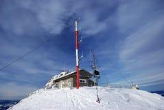väder för bergstationsöverkant royaltyfri foto
