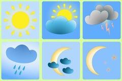 väder för dagnattvariation Arkivfoton