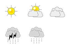 väder för formatsymbolsvektor stock illustrationer