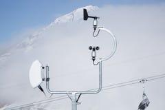 väder för kontrollstation arkivfoton
