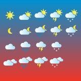 väder för sun för oklarhetssymbolsregn Royaltyfria Bilder