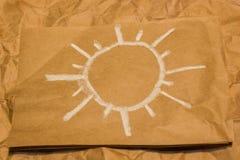 väder för sun för oklarhetssymbolsregn Royaltyfria Foton