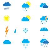 väder för sun för oklarhetssymbolsregn arkivbild