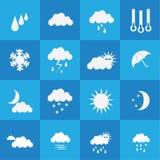 väder för sun för oklarhetssymbolsregn Arkivfoton