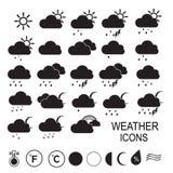 väder för sun för oklarhetssymbolsregn Extra delnings-vektorillustration vektor Arkivbilder