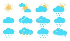 väder för sun för oklarhetssymbolsregn också vektor för coreldrawillustration vektor illustrationer