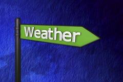 väder för tecken 3d Royaltyfria Foton