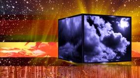 Väder som är generiskt för nyheterna stock video
