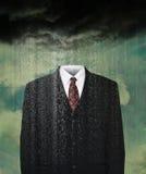 Väder Weatherman, regn, stormmoln royaltyfri foto
