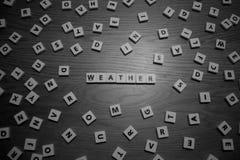 Väderbokstäver Arkivbild