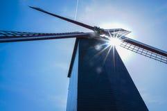 Väderkvarn av Bruges Fotografering för Bildbyråer