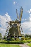 Väderkvarn De Riekermolen Arkivfoto
