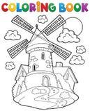 Väderkvarn 1 för färgläggningbok