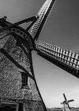 Väderkvarn i Amsterdam bygd Fotografering för Bildbyråer
