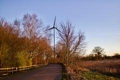 Väderkvarn i UK Arkivfoto