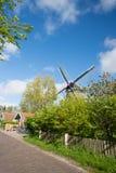 Väderkvarn på den holländarewadden ön Terschelling Royaltyfria Foton