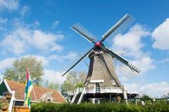 Väderkvarn på den holländarewadden ön Terschelling Arkivbilder