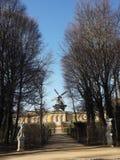 Väderkvarn Potsdam, Tyskland royaltyfri foto