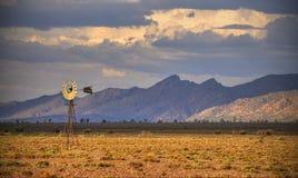 Väderkvarn västra pundområde, Flindersområden Royaltyfri Foto