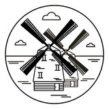 Väderkvarn vektorsymbol Fotografering för Bildbyråer