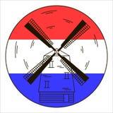 Väderkvarn vektorsymbol Royaltyfri Bild