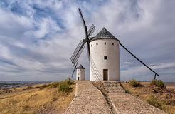 Väderkvarnar av La Mancha spain Royaltyfria Foton