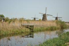 Väderkvarnar i Kinderdijk Royaltyfri Foto