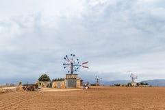 Väderkvarnar i Mallorca Arkivfoto
