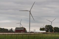 Väderkvarnar i Wisconsin Royaltyfria Foton
