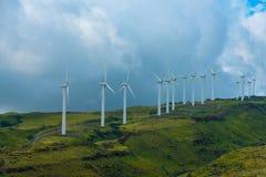 Väderkvarnar på berget Fotografering för Bildbyråer