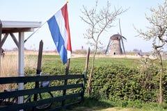 Väderkvarnar på Kinderdijk, Nederländerna Arkivfoton