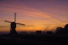 Väderkvarnen 'Laaglandse molen', Fotografering för Bildbyråer