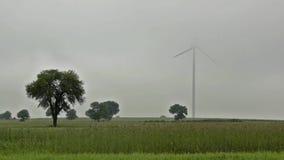 Väderkvarnturbin Arkivfoto