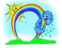 Väderprognos Arkivfoton