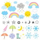 Väderprognos vektor illustrationer