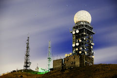 Väderradar av natten Arkivfoton