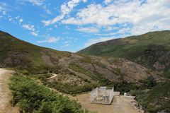 Väderstation upptill av ett härligt berg Gerï ¿ ½ s, Por royaltyfria foton