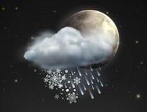 Vädersymbol Fotografering för Bildbyråer