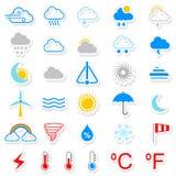 Vädersymbol Royaltyfri Fotografi