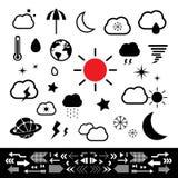 Vädersymbol Royaltyfria Bilder